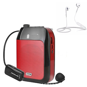 Máy trợ giảng không dây T9 Wireless Kháng nước, Kèm theo: 1 Micro ko dây cài tai + 1 Micro có dây cài ve áo + 1 Tai nghe Bluetooth Siêu Bass Có Mic Đàm Thoại Thích Hợp các cuộc họp, hội nghị và học trực tuyến trên Zoom
