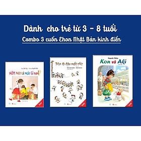 Sách Combo 3 Ehon Nhật Bản kinh điển dành cho trẻ từ 3-6 tuổi
