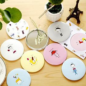 Combo 5 Gương trang điểm cầm tay mini bỏ túi phong cách Hàn Quốc
