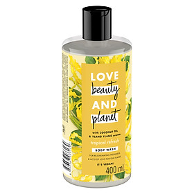 Sữa Tắm Phục Hồi Da Khô Love Beauty And Planet Tropical Refresh 400ml