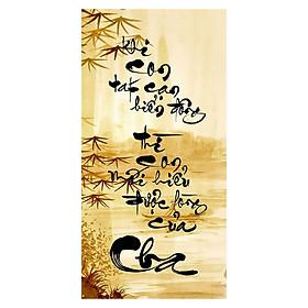 Tranh Thư Pháp Chữ Cha 2584 (30 x 60 cm)