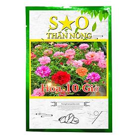 Hạt giống hoa 10 giờ nhiều màu tỉ lệ nảy mầm cao - Hạt giống Sao thần Nông - Gói 200 Hạt