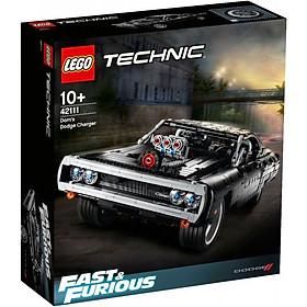 Đồ chơi lắp ráp mô hình LEGO TECHNIC ALL Siêu Xe Dom's Dodge Charger màu đen huyền bí 42111