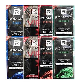Combo 10 Dây dầu gội cho Nam Romano Mix 4 màu (1 dây 14 gói)
