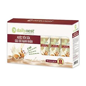 Hộp Nước Yến Sữa Đậu Đỏ Hạnh Nhân Dailynest (6 lọ x 120ml)
