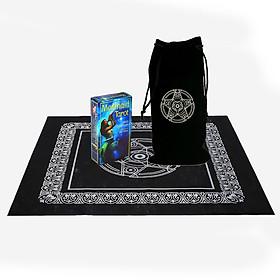 Combo Bộ Bài Mermaid Tarot New Cao Cấp và Túi Nhung Đựng Tarot và Khăn Trải Bàn Tarot