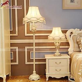 Đèn Cây Đứng Tân Cổ Điển - Đèn Ngủ Cây Đứng Đẹp, Thân Composite Chao Vải Lụa, Tặng Kèm Bóng LED 3W ML3048
