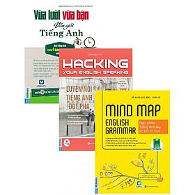Combo Sách Hack Não Môn Tiếng Anh 1 (Vừa Lười Vừa Bận Vẫn Giỏi Tiếng Anh+Hacking Speaking English+Mind Map English Grammar) (Tặng Bookmark độc đáo CR)