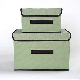 Sét 2 Hộp vải đựng đồ tiện lợi, thùng đựng quần áo đa năng loại 1