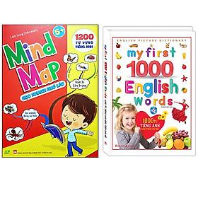 Combo 1000 Từ Tiếng Anh Đầu Tiên Cho Bé (Kèm DVD) - Tái Bản+Mind Map - Sơ Đồ Tư Duy 1200 Từ Vựng Tiếng Anh Cho Bé Với 35 Chủ Đề
