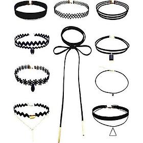 COMBO 5 Vòng cổ Choker nữ Cá tính và Thời trang, vòng cổ dự tiệc, vòng cổ trẻ trung cực cool ngầu ( Giao Mẫu Ngẫu Nhiên)