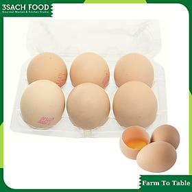 [Chỉ Giao HCM] - Trứng gà ta nông trại (Hộp 6 trứng) - Dinh dưỡng cao hơn trứng gà thường - Sản phẩm từ nông trại 3Sạch Food