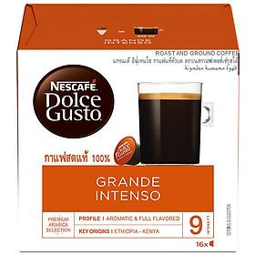 Hộp 16 Viên Nén Cà Phê Rang Xay Nescafe Dolce Gusto - Grande Intenso 160g