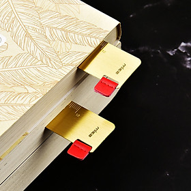MIEZ Chinese style brass ruler bookmark