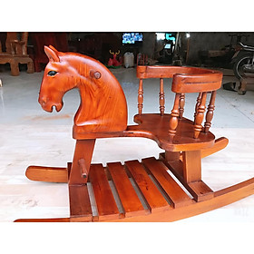 Xe Ngựa Bập Bênh Quý Tộc Bằng Gỗ 100% Tự Nhiên Kiểu Dáng Sang Trọng An Toàn Cho Bé Giao Hàng Toàn Quốc Độc Quyền Tại Shop Ngọc Long
