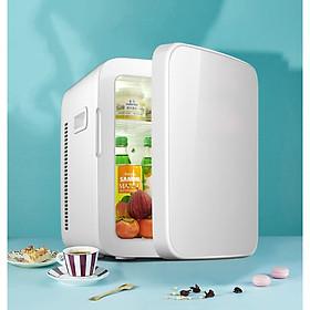 Tủ lạnh mini dùng được cả trong nhà và trên xe hơi - 16L (giao hàng Toàn Quốc)