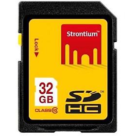 Thẻ Nhớ SD 32G Strontium Class 10 - Thẻ Nhớ Máy Ảnh - Hàng Chính Hãng