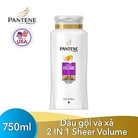 Dầu gội và xả 2in1 Pantene Pro-V Sheer Volume 750ml