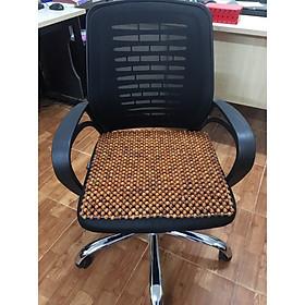 Đệm vuông lót ghế văn phòng hạt gỗ hương đỏ loại hạt 1,2cm ( hình ảnh thật )
