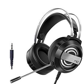Tai nghe gaming MC Q9 - Tai nghe có dây chụp tai có Mic, âm thanh Hifi sống động chống ồn