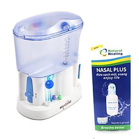 Máy tăm nước cho cả gia đình Maxcare Max 456L tặng kèm bình rửa mũi nasal Plus