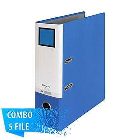 Combo 5 File đựng tài liệu F4 - 7cm - KING JIM 2795GSV còng bật cao cấp