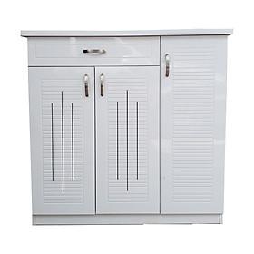 Tủ Giày Gỗ Veneer Màu trắng N100cm