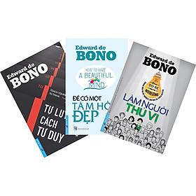 Combo 3 Cuốn Sách Của Tác Giả Edward De Bone (4889, 5058, 5068)
