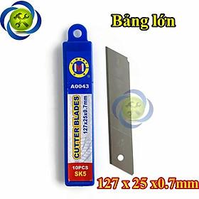 Lưỡi dao rọc giấy loại lớn C-Mart A0043 127mm x 25mm x 0.7mm