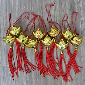 Combo 10 thỏi vàng có dây treo trang trí tết