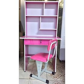 Bộ bàn học sinh 80cm gồm ghế màu hồng