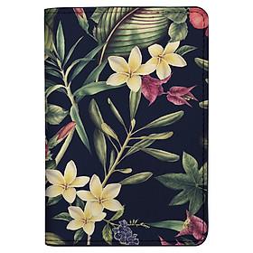 Bao Da Hộ Chiếu / PASSPORT Mika D-005-004-P (19 x 14 cm) - Họa Tiết Hoa