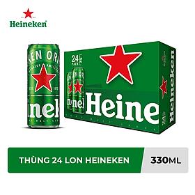 Thùng Bia Heineken 24 Lon Cao Sleek (330ml / Lon)