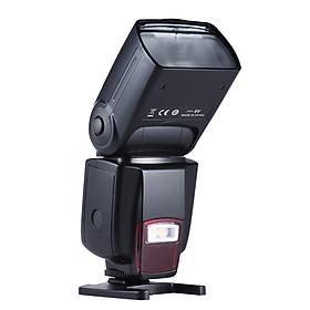 Andoer Ad-560Ii Pro Universal Camera Flash Speedlite On-Camera Flash Gn50 W/ Adjustable Led Fill Light With Color - Black