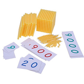 Plastic Beads Bar Number Cards for Montessori Bank Game Kids Educational Toy