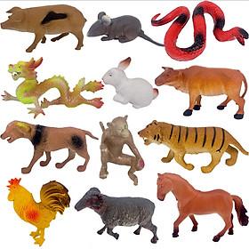 Bộ đồ chơi mô hình động vật 12 con giáp size lớn