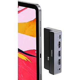 Bộ Hub chuyển đổi USB Type-C UGREEN CM317 70688 cho iPad Pro 2018 2020, bao gồm các cổng 3.5mm, HDMI, 2 cổng USB 3.0, 1 cổng PD 100W - Hàng chính hãng