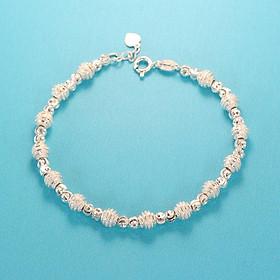 Lắc tay bạc nữ, vòng tay bạc nữ bi bạc độc đáo LTN0146