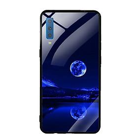 Ốp Lưng Kính Cường Lực cho điện thoại Samsung Galaxy A7 2018 - 0269 MOON02 - Hàng Chính Hãng