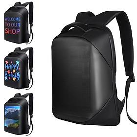 Shoulder Backpack LED Full-Color Screen Travel Laptop Backpack Waterproof Shoulder Bag for Daypack Outdoor