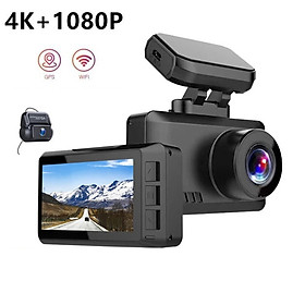 Camera hành trình ô tô, xe hơi cao cấp trang bị Wifi, GPS, ghi hình 4K, màn hình 2.45 inch IPS Screen