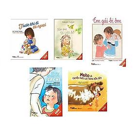Mỗi ngày một cuốn sách - bộ ehon Nhật Bản 5 cuốn cho trẻ : Trước khi đi dã ngoại + Món quà từ cửa sổ + Em gái bị ốm + Bàn tay kỳ diệu của Sachi + Mako và chuyến phiêu lưu trong bồn tắm