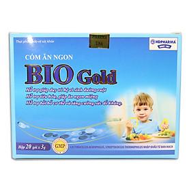 Cốm ăn ngon cho bé Bio Gold giảm tiêu chảy và táo bón - Hộp 20 gói bổ sung 3 tỷ lợi khuẩn, DHA, Taurine, Lysin, Kẽm, Canxi và Vitamin tổng hợp