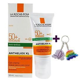 Kem Chống Nắng Làm Đều Màu Da, Kiểm Soát Bóng Nhờn Cho Da Nhạy Cảm La Roche-Posay Anthelios XL Tinted Dry Touch Gel - Cream (50ml) - TẶNG MÓC KHÓA