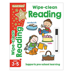 Gold Stars - Wipe - Clean Reading Ages 3-5