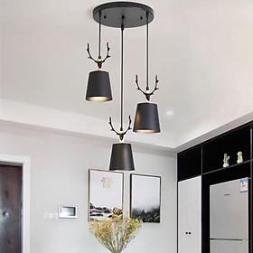 Bộ đèn thả bàn ăn cao cấp kèm bóng LED chuyên dụng và đế ốp trần