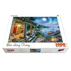 Bộ tranh xếp hình cao cấp 1000 mảnh 50x80cm – Bến Sông Trăng