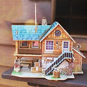 Đồ chơi lắp ráp gỗ 3D Mô hình Nhà Gỗ Trong Rừng F139