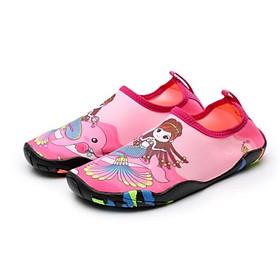 Giày đi biển, đi nước bé gái, chơi các trò vận động, đế không trơn trượt, bảo vệ chân, nhẹ, mềm, nhanh khô, màu hồng họa tiết nàng tiên cá - SK027
