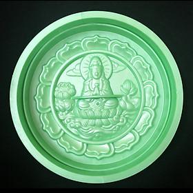 Khuôn ép xôi tròn Phật Bà Quan Âm ngồi đài sen